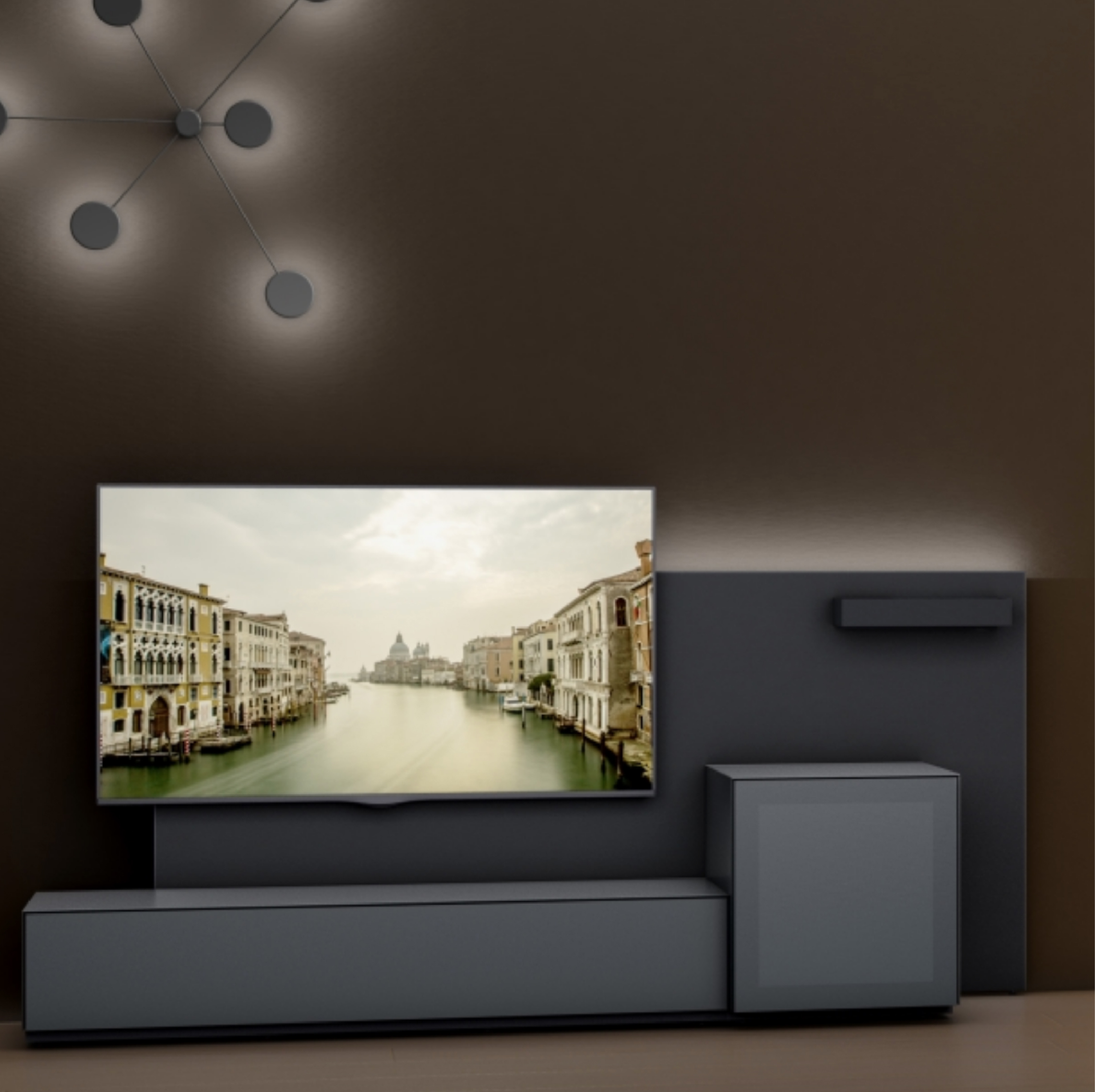 Meuble Tv Leggera Connect Ground Mb Salon Munari